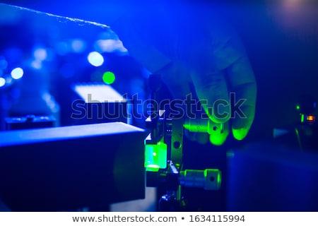 Lasers in a quantum optics lab Stock photo © lightpoet