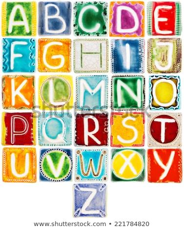 Handmade Ceramic Letters Сток-фото © Taigi