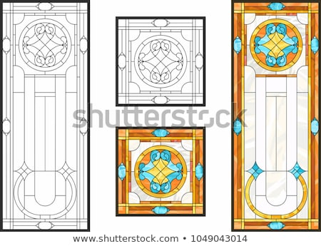 vitrais · porta · janela · uva · folha - foto stock © samsem