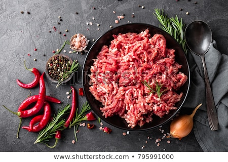 raw minced beef stock photo © m-studio