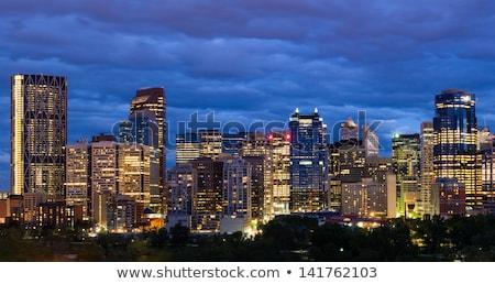 Nacht calgary Canada kantoor stad Stockfoto © pictureguy
