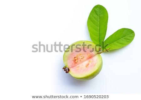 Dilim yalıtılmış beyaz gıda meyve tropikal Stok fotoğraf © danny_smythe