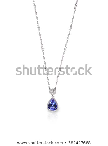 Ametista colar isolado branco projeto rocha Foto stock © ruzanna