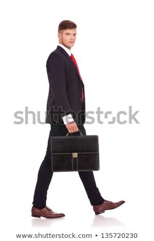 man walking sideways & looking at you Stock photo © feedough