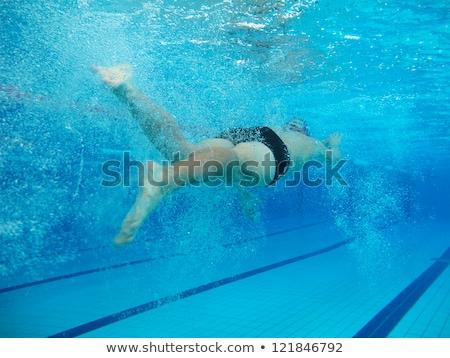 Yüzme sualtı fotoğraf su spor Stok fotoğraf © pedromonteiro