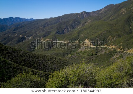 Isolated highway carved through hillside. stock photo © swatchandsoda