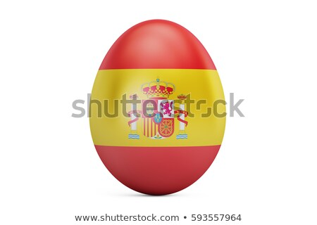испанский флаг пасхальное яйцо полосатый рисунок праздник Пасху Сток-фото © marinini