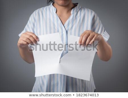 紙 · 白 · ペン · ノートブック · ノート · シート - ストックフォト © wavebreak_media