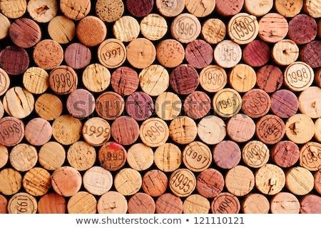 ストックフォト: 中古 · ワイン · 孤立した · 白 · 背景 · レストラン
