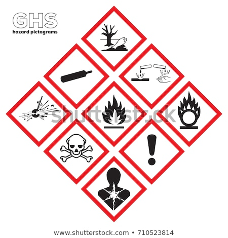 Safety and danger icon set Stock photo © krabata