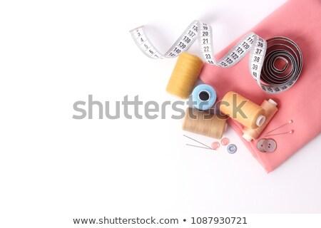 Coser tejido hilo dedal vacío marco Foto stock © marimorena