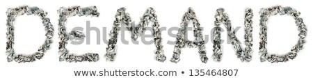 Nachfrage 100 Rechnungen Wort heraus isoliert Stock foto © eldadcarin