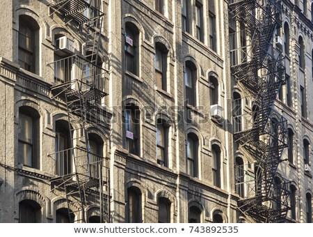 oude · ijzer · brand · ontsnappen · redding · huizen - stockfoto © meinzahn