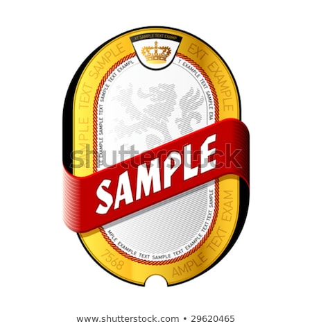 Gold label with example text Stock photo © 5xinc