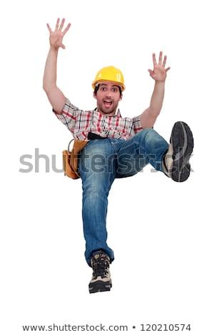 Artesano caer hombre construcción trabajador dolor Foto stock © photography33