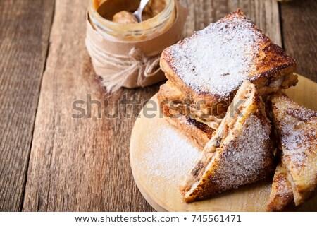 伝統的な フランス語 焼いた サンドイッチ 食品 卵 ストックフォト © ilolab
