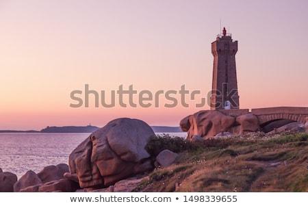 Rózsaszín gránit kövek természet tenger utazás Stock fotó © tilo