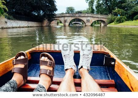 Foto stock: Tradicional · cambridge · barcos · conjunto · doca
