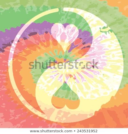 Geven vrede kans handen Amerikaanse vlag sterren Stockfoto © radivoje