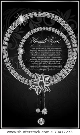 diamante · cartão · moda · projeto · quadro · pedra - foto stock © carodi