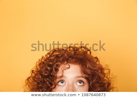 woman with hairs on half of face Stock photo © chesterf