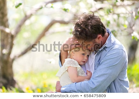 Father comforting his crying child Stock photo © photography33