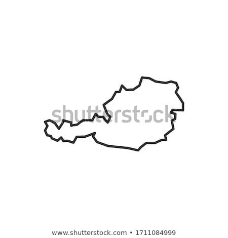 Oostenrijk icon stad bouw stempel Europa Stockfoto © Myvector
