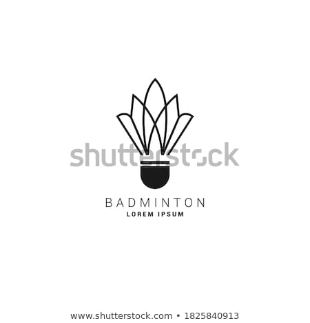 Badminton illustration sport coq vecteur isolé Photo stock © Krisdog