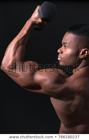 Topless homem músculos moço corpo olhando Foto stock © feedough