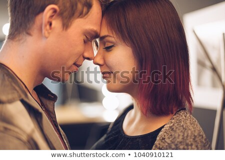 casual couple looking at eachother Stock photo © feedough
