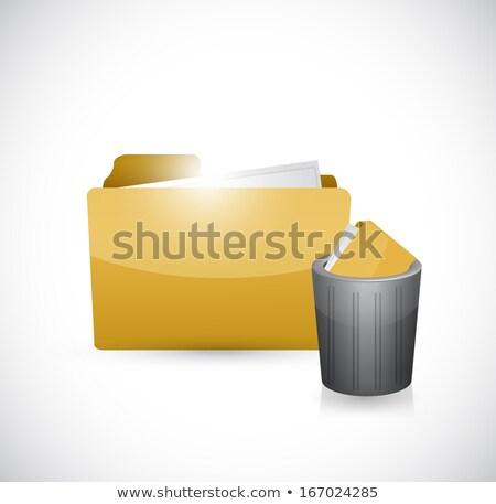 Trashed Folder illustration design over a white background Stock photo © alexmillos