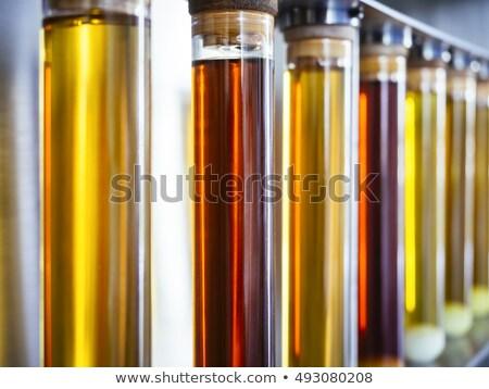 Csövek etanol vegyi labor orvosi kék Stock fotó © w20er