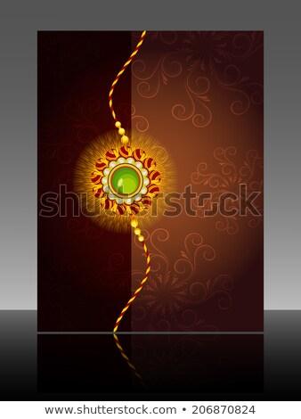 Celebration Raksha Bandhan festival colorful  Brochure reflectio Stock photo © bharat