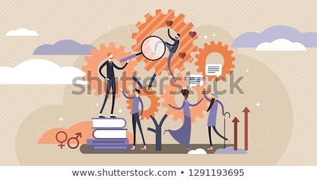 個々の · 教育 · 学習 · 計画 · シンボル · グループ - ストックフォト © tashatuvango