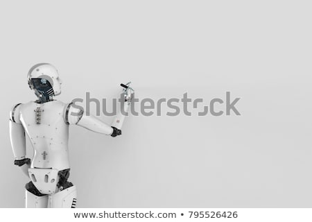 Android robot holding a blank board Stock photo © Kirill_M