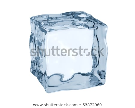 Ice cubes - 3D render Stock photo © Elenarts