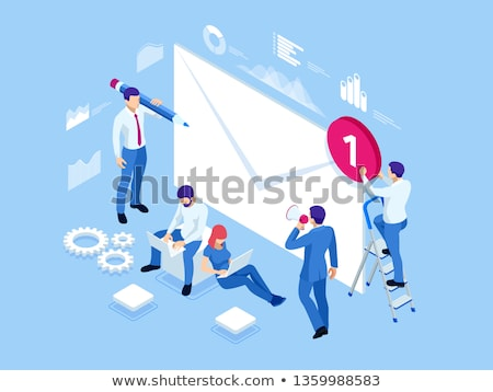 mailing list concept vector Stock photo © burakowski