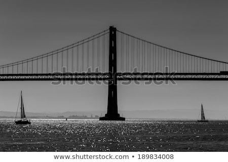 San Francisco Bay bridge sailboat from Pier 7 California Stock photo © lunamarina