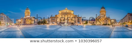 German Cathedral on Gendarmenmarkt Square in the Evening, Berlin Stock photo © anshar