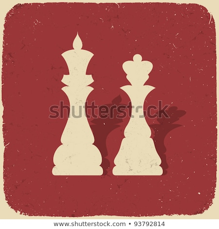 Vintage Chess King Background Vector Illustration Foto stock © pashabo
