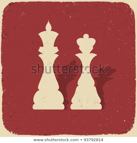 Vintage chess king background, vector illustration Stock photo © carodi