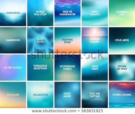 bright shiny waves vector background gradient mesh stock photo © saicle