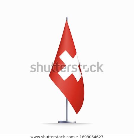 zászló · Svájc · nagy · méret · illusztráció · vidék - stock fotó © harlekino