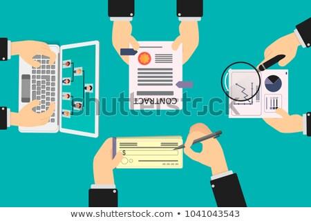 маркетинга · увеличительное · стекло · старой · бумаги · бумаги · интернет · фон - Сток-фото © tashatuvango