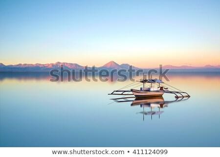 Güzel mavi tan gün batımı Filipinler pembe Stok fotoğraf © smithore