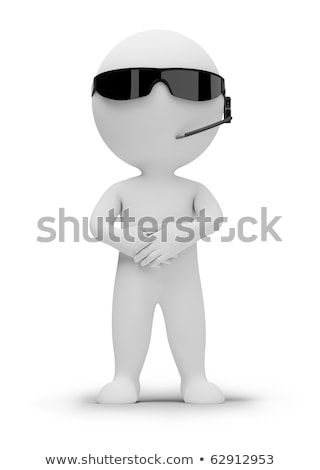 3d small people   security guard stock photo © anatolym