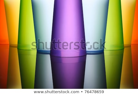 Stock photo: Blue frosted glass background, texture with backlight