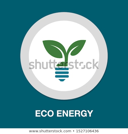 Ampoule usine croissant vert eco énergie Photo stock © kiddaikiddee