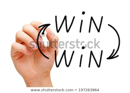 Mão desenho ganhar situação preto Foto stock © ivelin