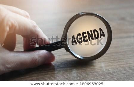 program management concept through magnifying glass stock photo © tashatuvango